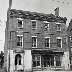 Farmers Bank building in the early 1960s